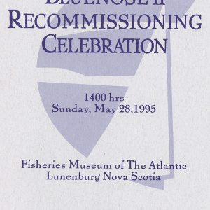 May 28, 1995 - The program cover for the Bluenose II recommissioning.