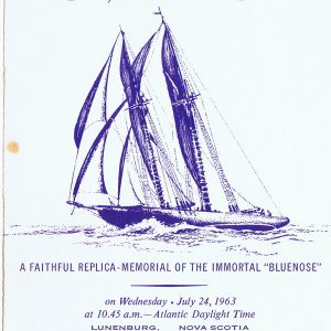 July 24, 1963 - The program cover for the launch of Bluenose II