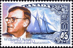 The 1998 William J. Roué stamp.