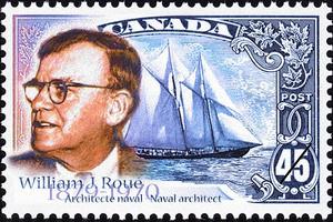 The 1998 William J. Roué stamp.